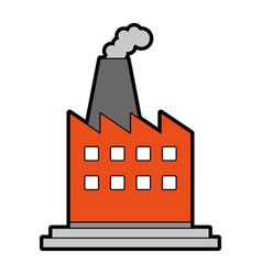 Factory building icon image vector