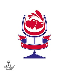 Festive goblet of wine vector