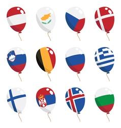 Flag balloons vector