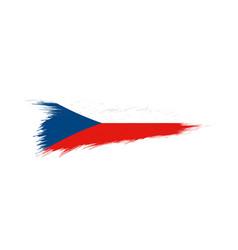 Flag czech republic in grunge brush stroke vector