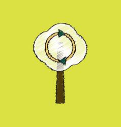 Flat shading style icon tree and air circulation vector