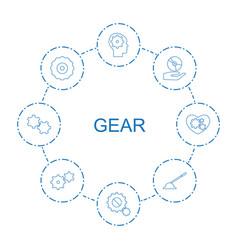 Gear icons vector