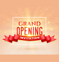 Grand opening party invitation card design vector