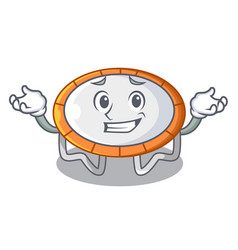 grinning trampoline character room on place vector image