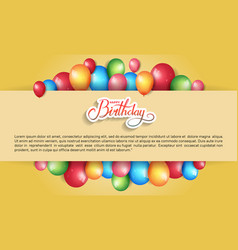 Happy birthday design with colorful balloon vector