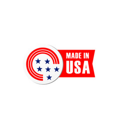 icon bagde made in usa flag vector image