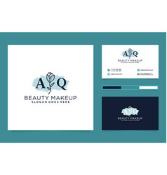 Initial aq feminine logo collections and business vector