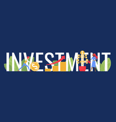 investment word concept cartoon investor people vector image