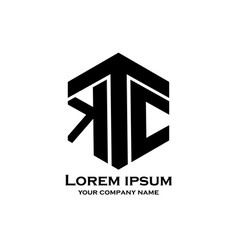 Ktc letter design logo business vector