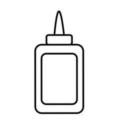 Line glue bottle school utensil style vector