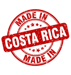 Made in costa rica red grunge round stamp vector