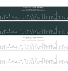 Madrid single line skyline banner vector