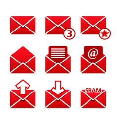 mail icons vector image