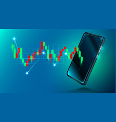 mobile stock market investment trading financial vector image