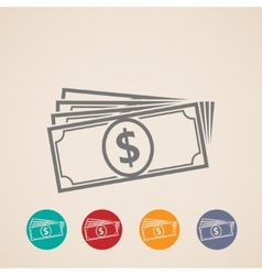 money stack icons vector image