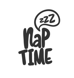 Nap time sticker for social media content vector