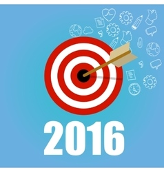 new year target resolution goals check mark pencil vector image