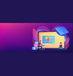 Online education platform concept banner header vector