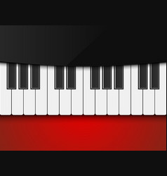 piano on red background vector image
