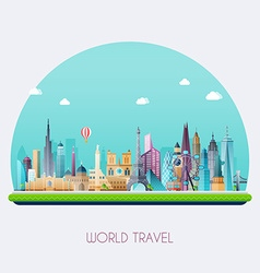 planet earth travel world travel and tourism vector image