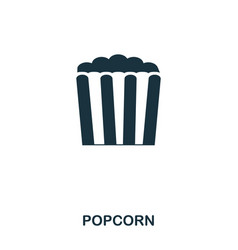 popcorn icon mobile apps printing and more usage vector image