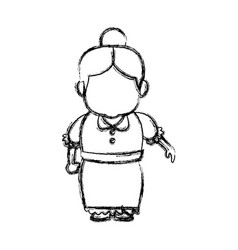 Portrait of lovely grandmother old woman female vector