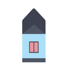 private house in simple vector image