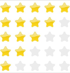 Rating stars panel Customer review vote navigation vector