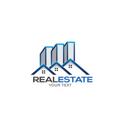 Real estate houses and high rise logo vector