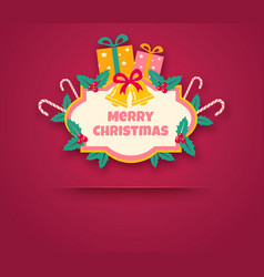 Retro banner for christmas and new year vector