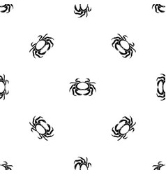 seafood crab pattern seamless black vector image
