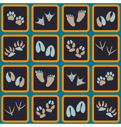 Seamless background with traces of animals vector image