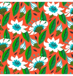 seamless floral pattern with daisy flowers vector image