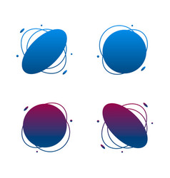 set collection gradient abstract shape frames vector image
