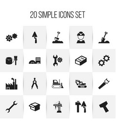 Set of 20 editable structure icons includes vector
