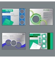 set of horizontal flyers template vector image