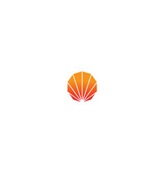 shell abstract design logo vector image