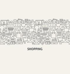 shopping banner concept vector image
