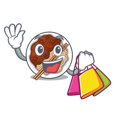 Shopping jajangmyeon in a cartoon shape vector
