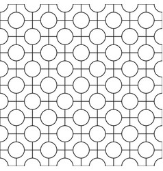 Simple seamless geometric pattern - grid vector