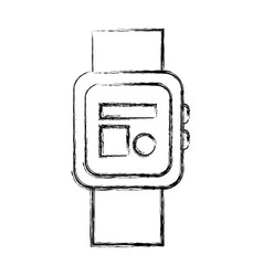 Smartwatch clock wearable technology icon vector