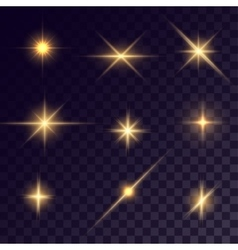 Star lighting effects vector