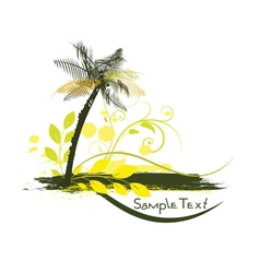 Summer with palm tree vector