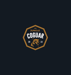 the image a coguar or panter vector image