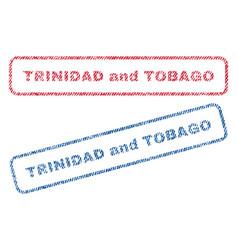 Trinidad and tobago textile stamps vector