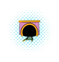 Tunnel icon comics style vector image