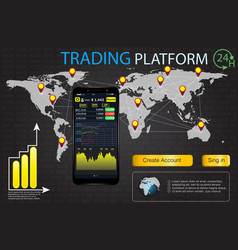 ui for business app trade market binary option vector image
