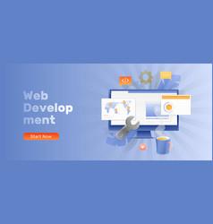 web development banner template vector image
