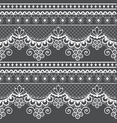 wedding lace french or english seamless pattern se vector image