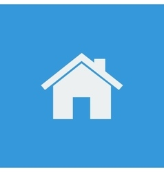 White home icon on blue background vector image
